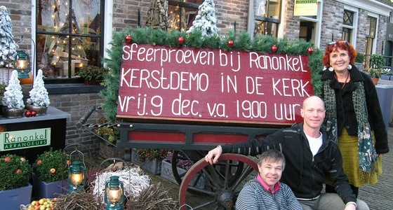 Kerstdemo in Keyserkerk